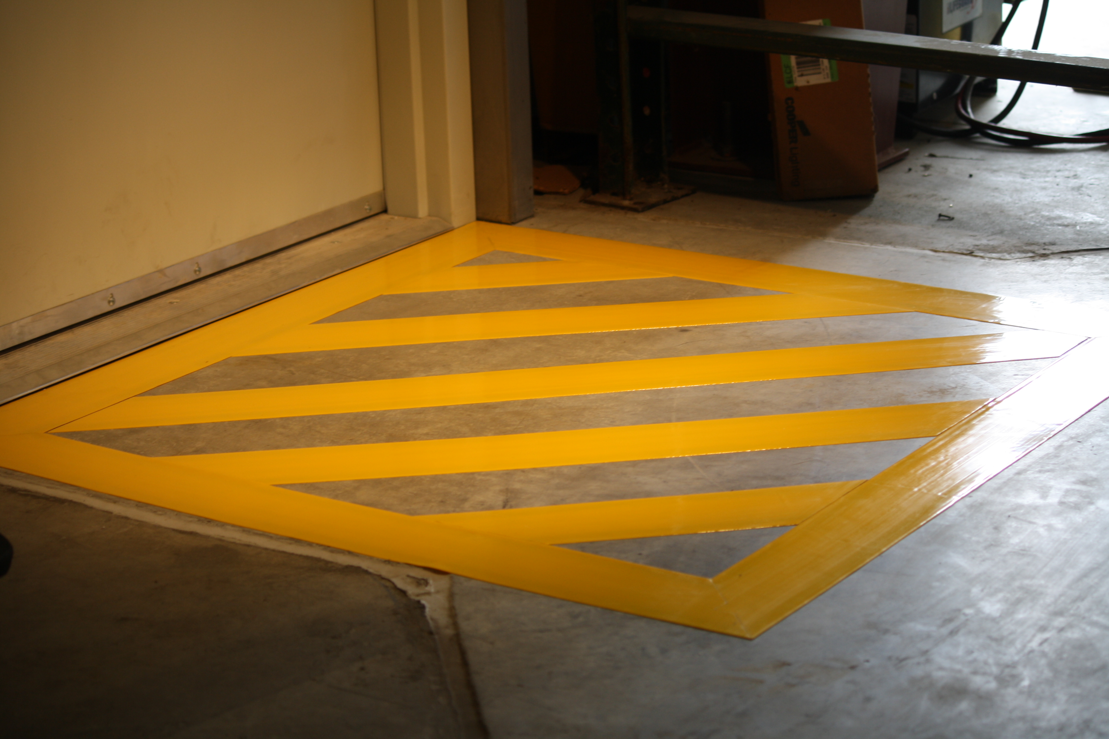 Comblack And Yellow Floor Tape : Comblack And Yellow Floor Tape : Superior Mark Floor Marking Tapes