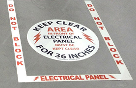electricalpanelfloorsign Become OSHA Compliant with New Promotion