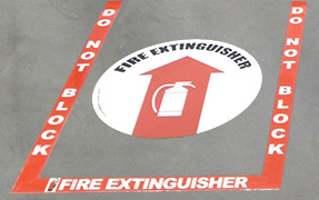 fireextinguisherfloorsign Become OSHA Compliant with New Promotion