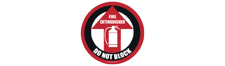 Fire Extinguisher Floor Safety Sign