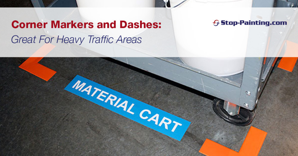 Corner Markers and Dashes: Great For Heavy Traffic Areas