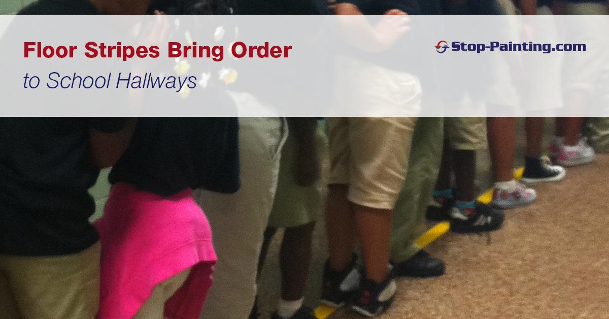 Floor Stripes Bring Order to School Hallways