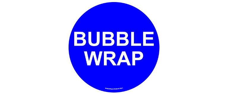 Bubble wrap floor sign
