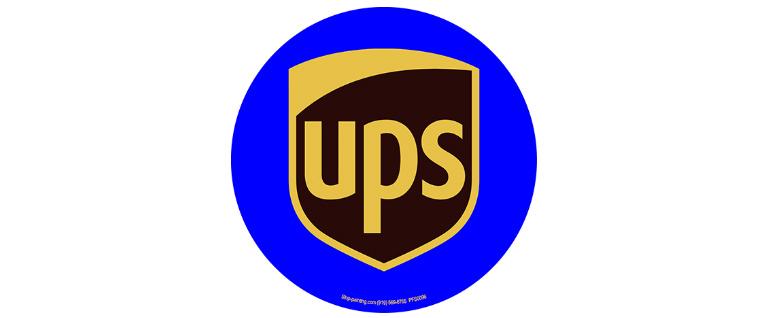 UPS floor sign