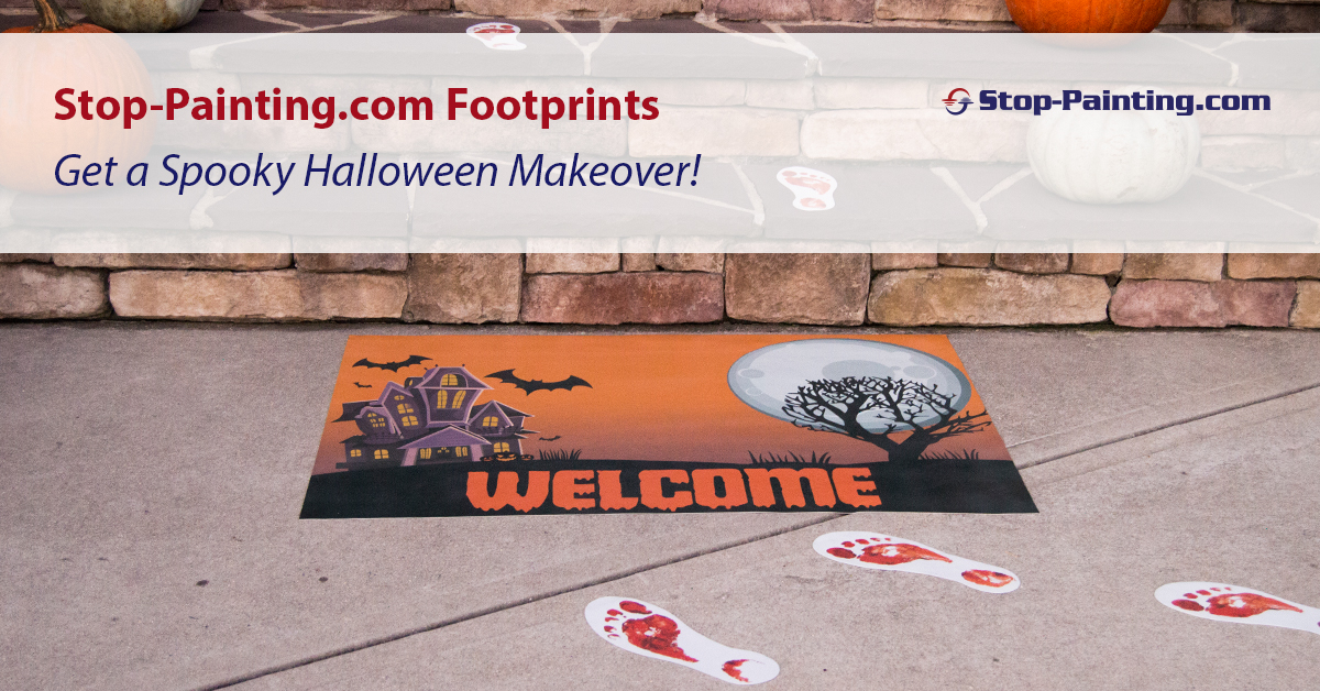 Stop-Painting.com Footprints Get Spooky Halloween Makeover