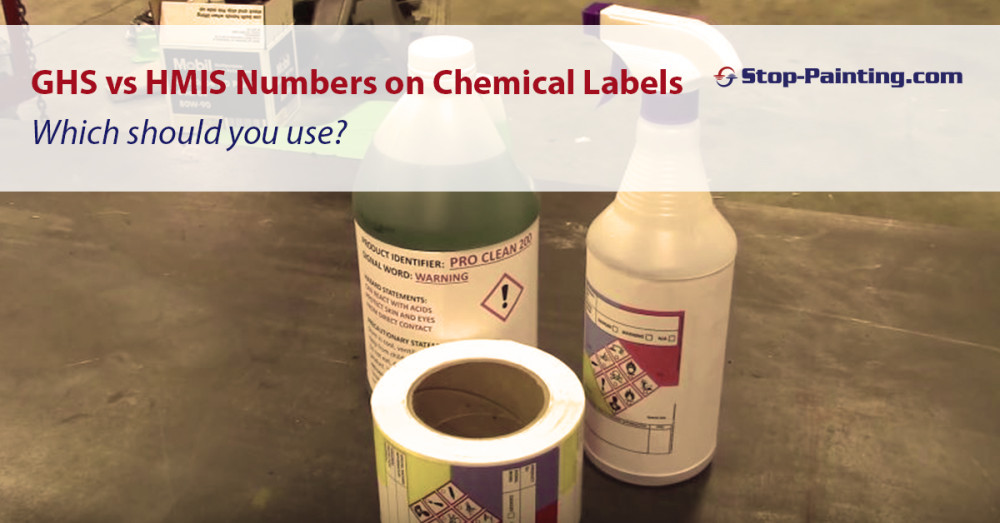 Should we use HMIS hazard numbers or GHS numbers on new chemical labels?