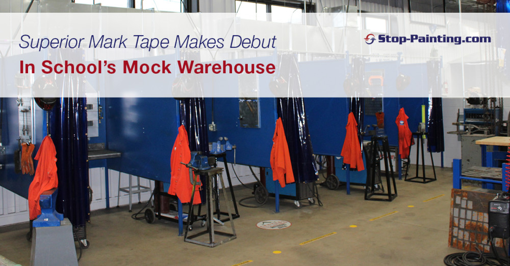 Superior Mark Tape Makes Debut in School's Mock Warehouse