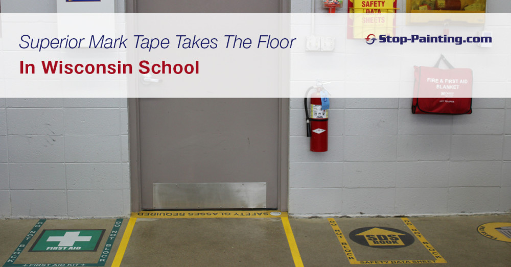 Superior Mark Tape Takes The Floor In Wisconsin School