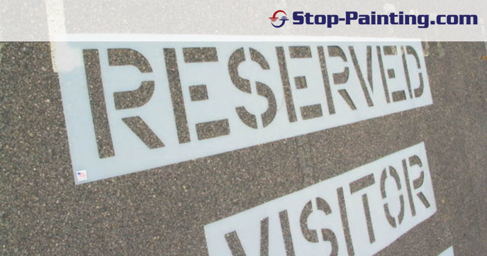 Stencils Create A Visually Organized Parking Lot