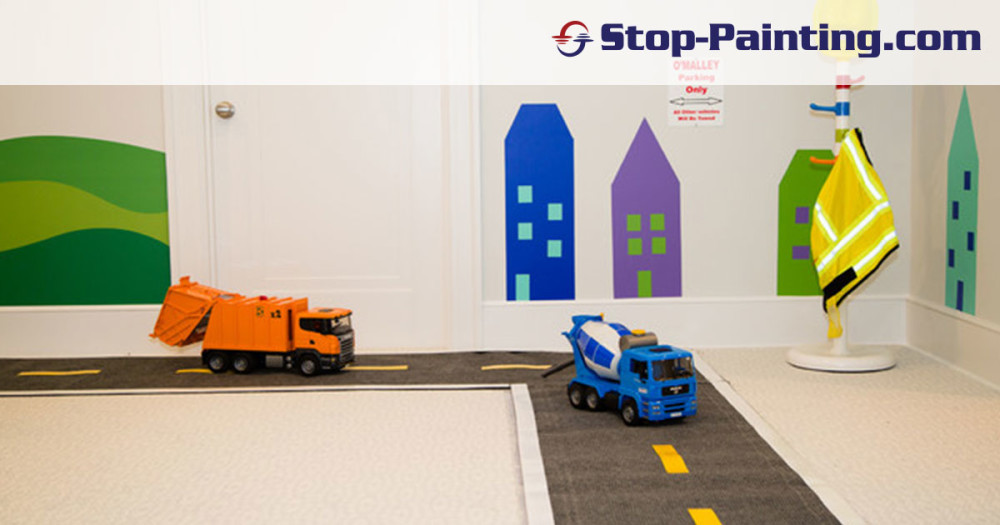 Stop-Painting.com carpet tape shows up in innovative play rooms