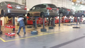 Maximize the number of vehicles you can fit in the shop by marking out repair zones.