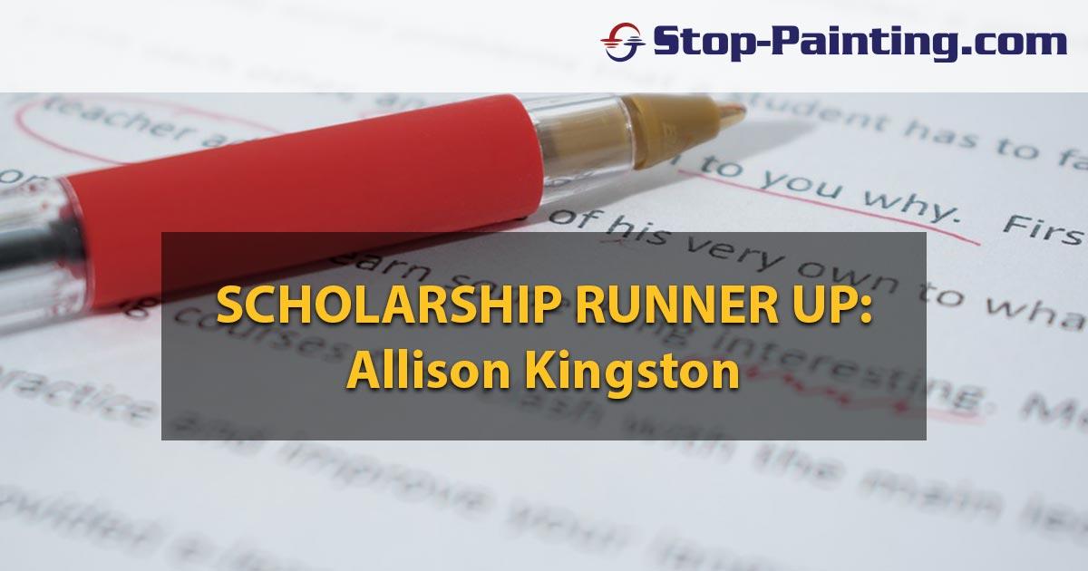 Scholarship Contest Runner-Up Essay: Allison Kingston