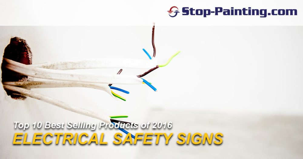Top 10 Best Sellers of 2016 – #8: Electrical Safety Signs