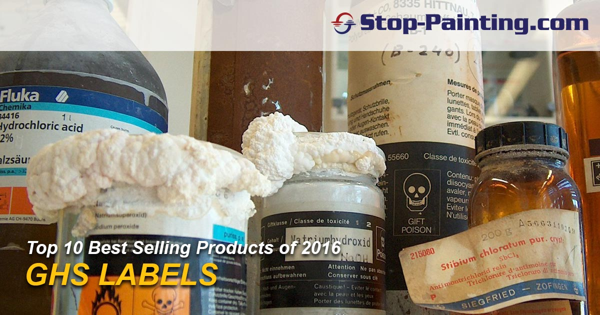 Top 10 Best Sellers of 2016 – #7: GHS Labels