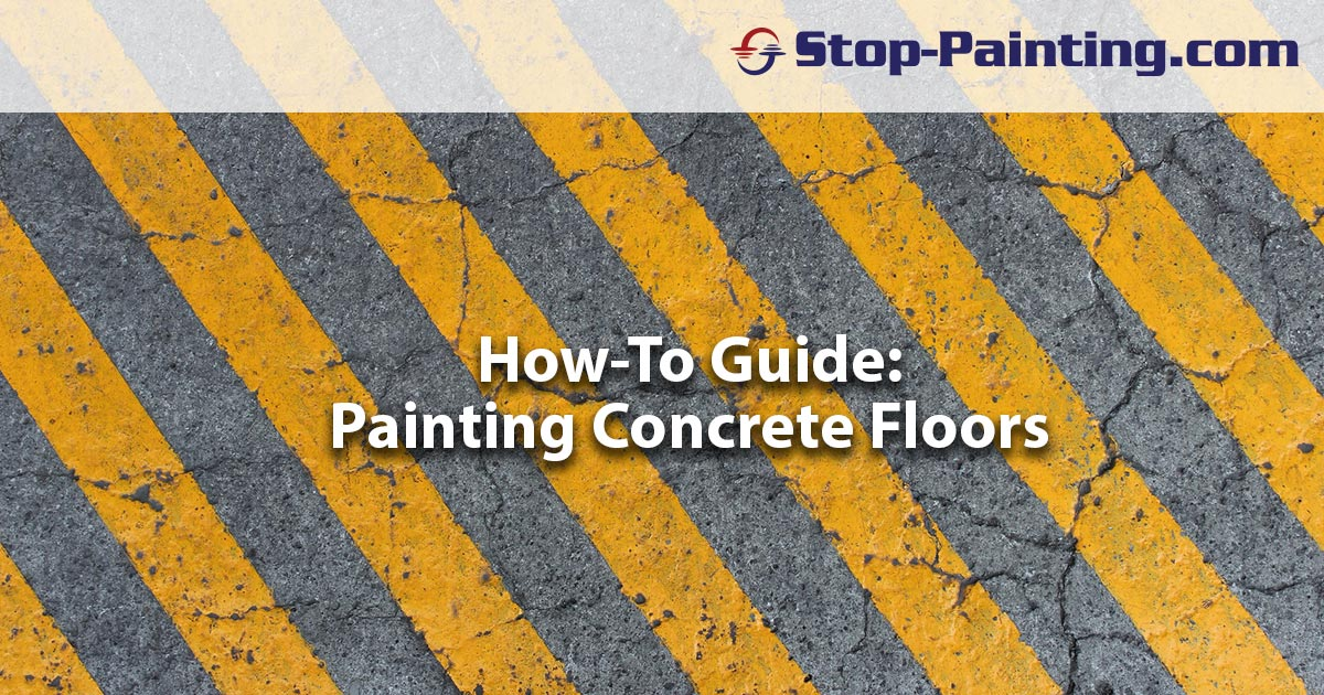 How To Guide Painting A Concrete Floor
