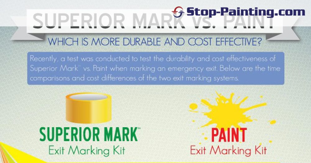 Exit Marking Case Study: Painting Versus Tape