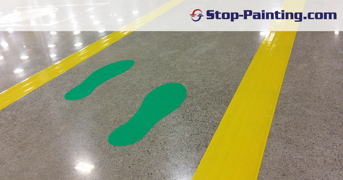 Using Footprint Floor Markers as Visual Cues