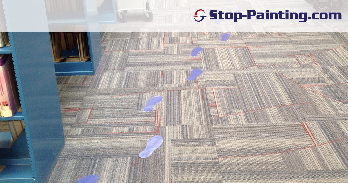 College Library Uses Footprints to Show the Way to Book Stacks