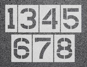 Number Stencils