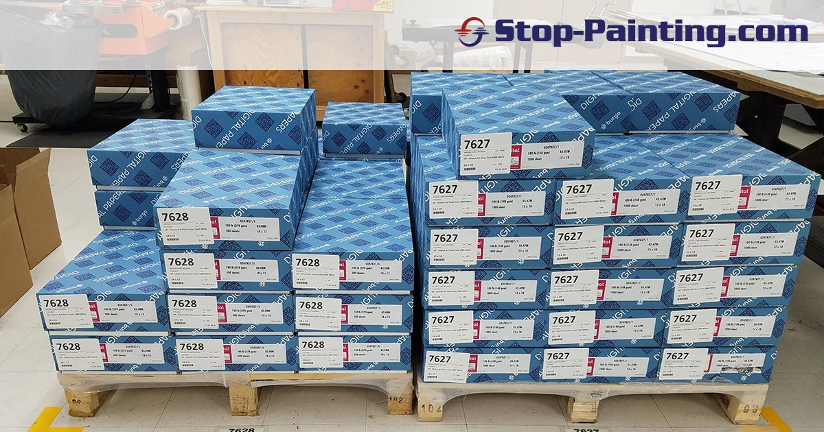 Superior Mark™ Label Protectors get the job done for printing company warehouse