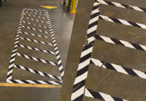 Floor marking tape testing site