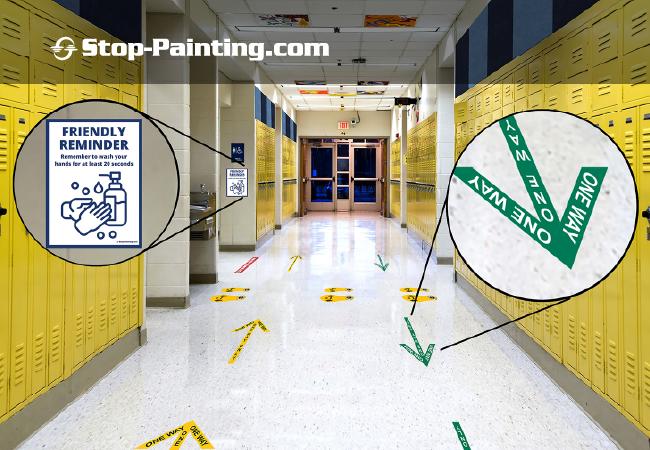 Using Floor Marking Tape in Schools