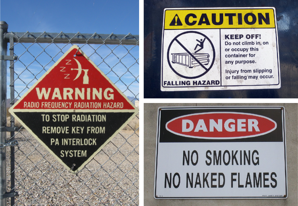 danger warning and caution sign examples
