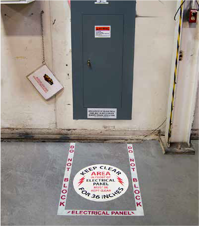 Electrical Panel Floor Marking Kit In Use