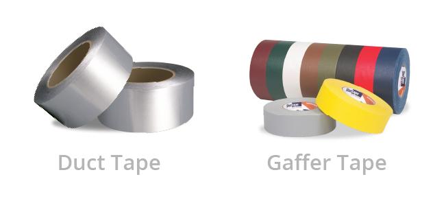 Duct tape versus gaffer tape comparison