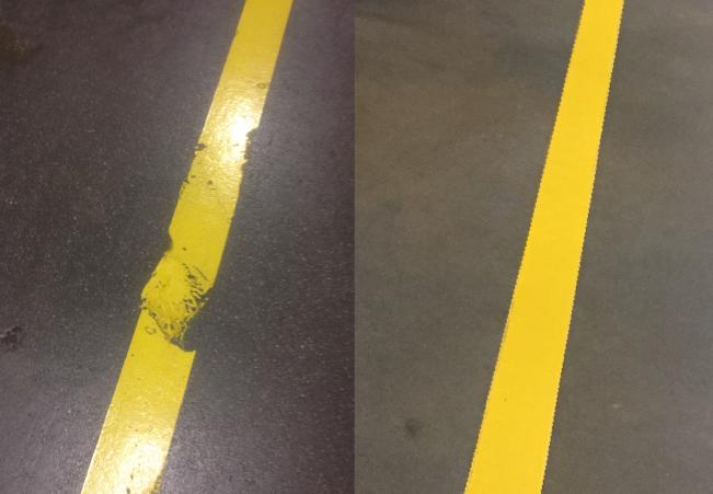 Floor Tape Versus Paint Comparison