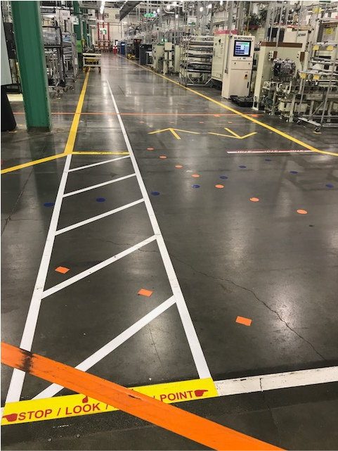 A properly marked floor can improve LEAN methodology success